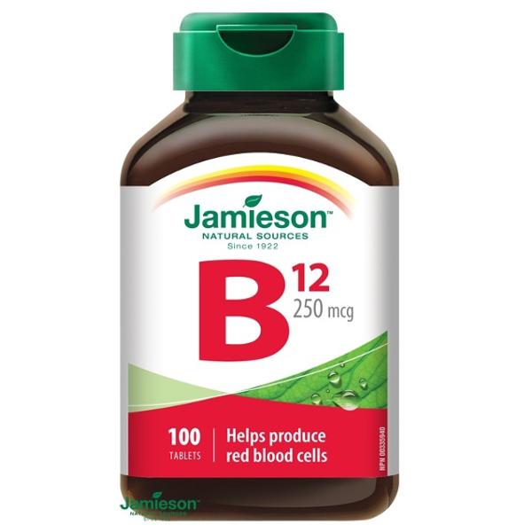 Jamieson Vitamín B12 KYANOKOBALAMÍN 250 µg 100 tbl
