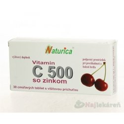 Naturica VITAMÍN C 500 mg so zinkom