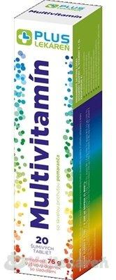 Plus Lekáreň Multivitamín tbl eff s príchuťou pomaranča 20 ks