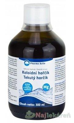 Pharma Activ Tekutý horčík Mg - Natural Pharm Tekutý Horčíkmg + Vitamín C príchuť malina 300 ml