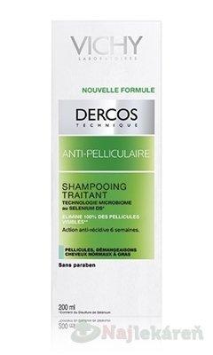 VICHY DERCOS ANTI-PELLICULAIRE Šampón - Vichy Dercos šampón lupiny mastné 200 ml