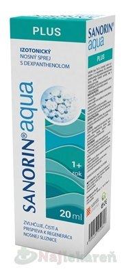 Sanorin Aqua PLUS 20ml - Sanorin Aqua Plus nosný sprej 20 ml
