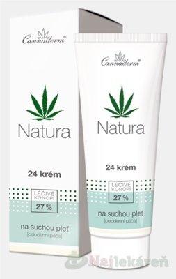 Cannaderm Natura 24 krém na suchú pleť 75 g
