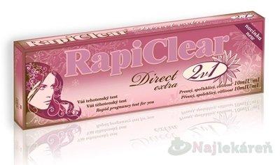 RapiClear Tehotenský test Direct extra 2v1 2ks