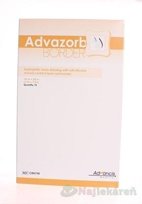 Advazorb Border 10 ks - Advazorb krytie na rany hydrofilné penové 10 x 20 cm, 10 ks