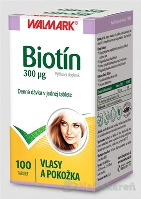 Walmark Biotin 300mcg 100 tabliet