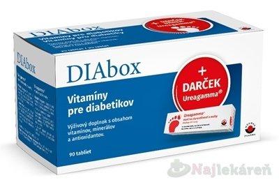 Wörwag Pharma Diabox Vitamíny pre diabetikov 90 tbl + DARČEK Ureagamma masť 45 ml -