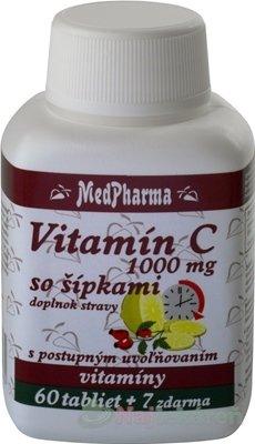MedPharma Vitamín C 500mg so šípkami 67 tabliet