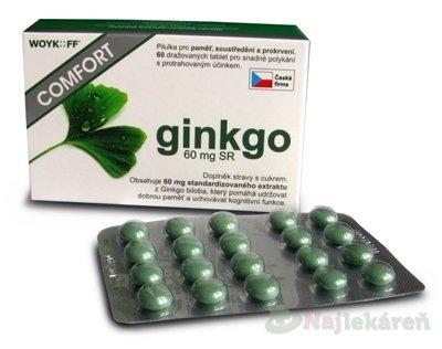 ginkgo COMFORT 60 mg SR - Woykoff na udržanie správnych duševných funkcii, 60ks