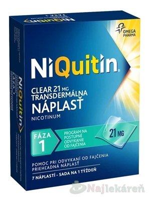 NiQuitin Clear 21 mg, 7 ks