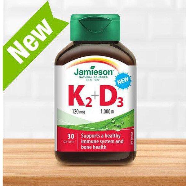 Jamieson Vitamin K2 120 mcg + D3 1000 IU 30 ks