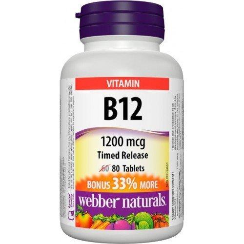 WN Vitamín B12 1200 mcg s postupným uvoľňovaním 60 + 20 tbl