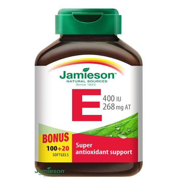 Jamieson Vitamín E 400 IU výživový doplnok, 120 cps