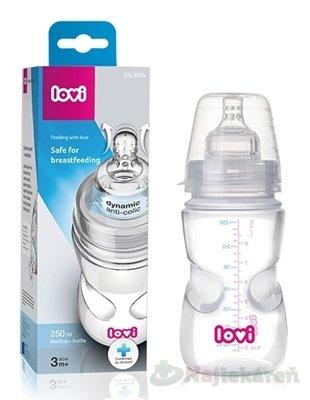LOVI fľaša Medical+ Aktívne satie Super vent 250ml