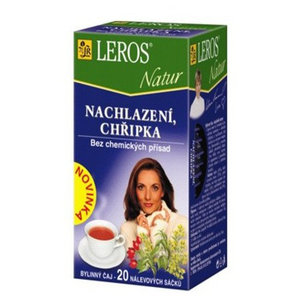 LEROS Natur čaj prechladnutie, chrípka 20 x 1,5g - LEROS NATUR Dýchací cesty 20 x 1,5 g