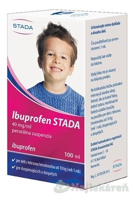 Ibuprofen STADA 40 mg/ml perorálna suspenzia proti bolesti a horúčke