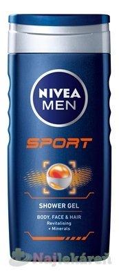 NIVEA MEN SPRCHOVÝ GÉL SPORT 250ml - Nivea Men Sport sprchový gél 250 ml