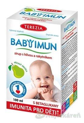 TEREZIA BABY IMUN sirup s hlivou a rakytníkom