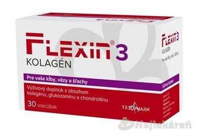 FLEXIN 3 KOLAGÉN, k správnej funkcii kostí, 30 ks - Triopharm Flexin 3 Kolagén 30 vrec.