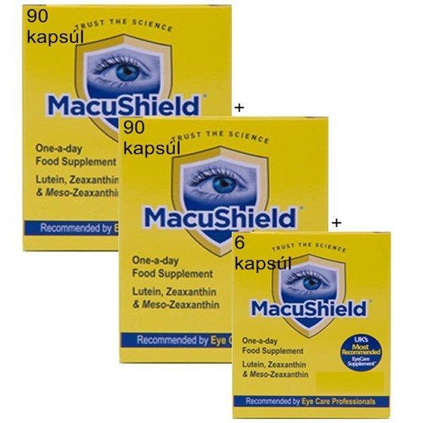 MacuShield pre zdravé oči 90 cps + 90 cps + 6 cps ZDARMA
