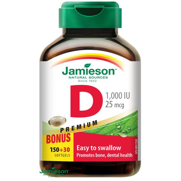 Jamieson Vitamín D3 1000 IU kapsuly 180 cps