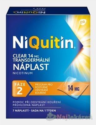 NiQuitin Clear 14mg emp.tdm.7 x 14mg
