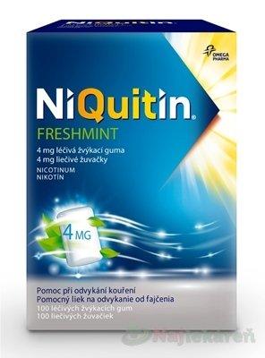 NiQuitin Freshmint 4 mg liečivé žuvačky proti fajčeniu