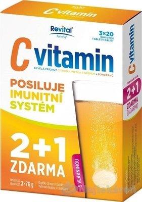 Revital C vitamin 3 x 20 eff.tabliet 2+1 Zdarma