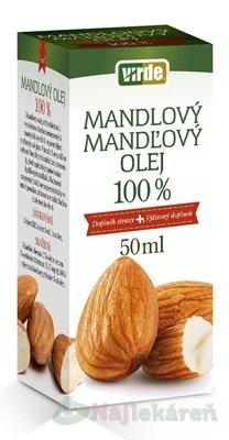 VIRDE MANDĽOVÝ OLEJ 100%, 50 ml - Eoné mandľový olej lisovaný za studena 100 ml