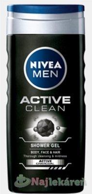 NIVEA MEN SPRCHOVÝ GÉL Active Clean 250ml - Nivea Men Active Clean sprchový gél 250 ml