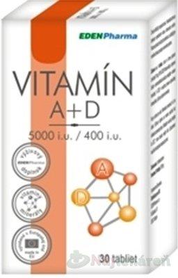 EdenPharma Vitamín A + D 5000 I.U./ 400 I.U. 30 tabliet
