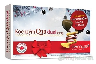 Barny´s Koenzým Q10 dual 60 mg 2 x 30 kapsúl