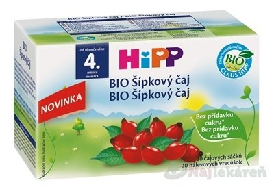 HIPP BIO Šípkový sáčkový 20x2g