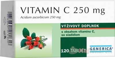 Generica Vitamín C 250mg 120 tabliet