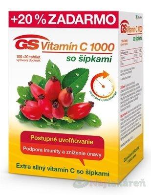 GS Vitamín C 1000 so šípkami 2016 - GS Vitamín C 1000 so šípkami 120 kapsúl