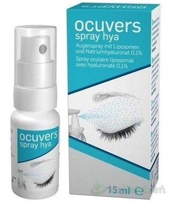 Ocuvers spray hya očné kvapky v spreji, lipozómy a hyaluronát sodný 15 ml