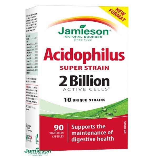 Jamieson Super Strain Acidophilus komplex bakteriálnych kultúr 90 cps