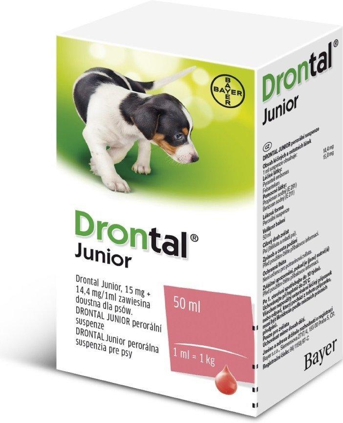 Drontal Junior perorálna suspenzia pre psy 1x50 ml