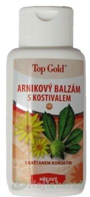 TOP GOLD Arnikový balzam s kostihojom, na regeneračné masáže, 200 ml - Top Gold arnikový balzám s kostivalem 200 ml