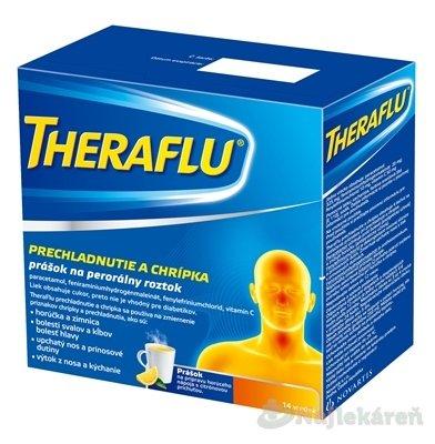 THERAFLU horúci nápoj na chrípku a prechladnutie, 14 vrecúšok - TheraFlu prechladnutie a chrípka plo.por.1 x 14