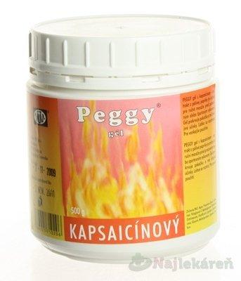 PEGGY GÉL kapsaicínový na ručné masáže 500g