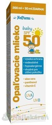 MedPharma Baby opaľovacie mlieko SPF50 230 ml