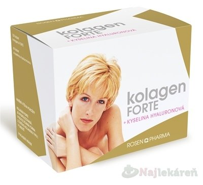 Rosenpharma Kolagen Forte+ Kyselina hyaluronová 180 ks