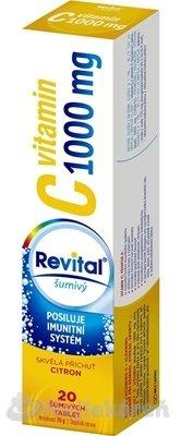 Revital vitamín C 1000 mg šumivý - Revital Vitamín C 1000mg s príchuťou citrón 20 šumivých tabliet