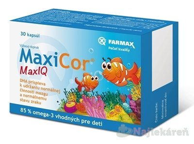 FARMAX MaxiCor Max IQ - Farmax Max IQ Omega 3 Pre deti 30 kapsúl