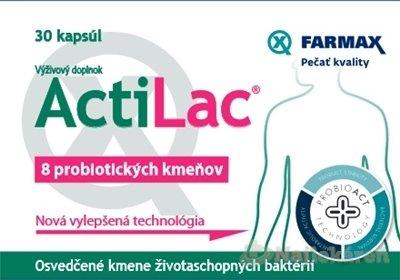 FARMAX ActiLac (inovácia) na normálnu rovnováhu črevnej flóry, cps 1x30 ks - Farmax ActiLac 30 kapsúl