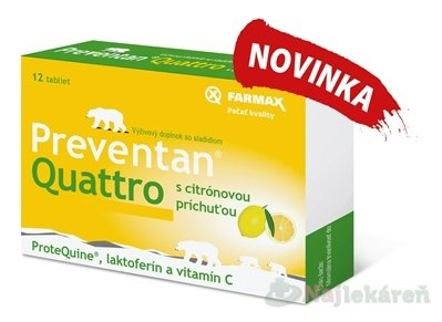 Farmax Preventan Quattro s citrónovou príchuťou 12 tbl.