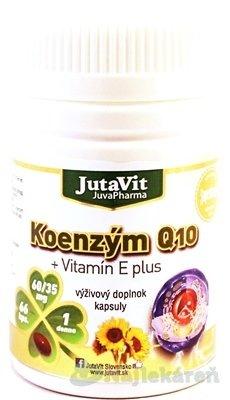 JutaVit Koenzým Q10 + vitamín E plus, 66 ks - JutaVit Koenzým Q10 + vitamín E plus 66 kapsúl