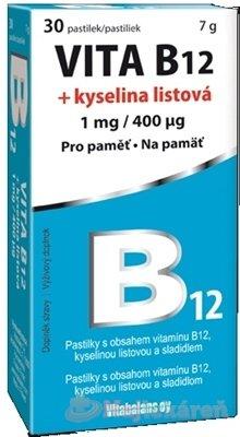 Vita B12 + kyselina listová 1 mg/400mcg 30 tabliet