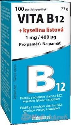 Vita B12 + kyselina listová 1 mg/400mcg 100 tabliet